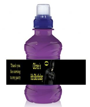 Batman Bottle Label Wrapper